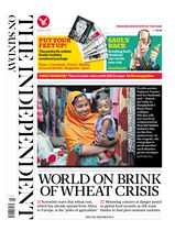 Une - The Independent on Sunday 20 avril 2014