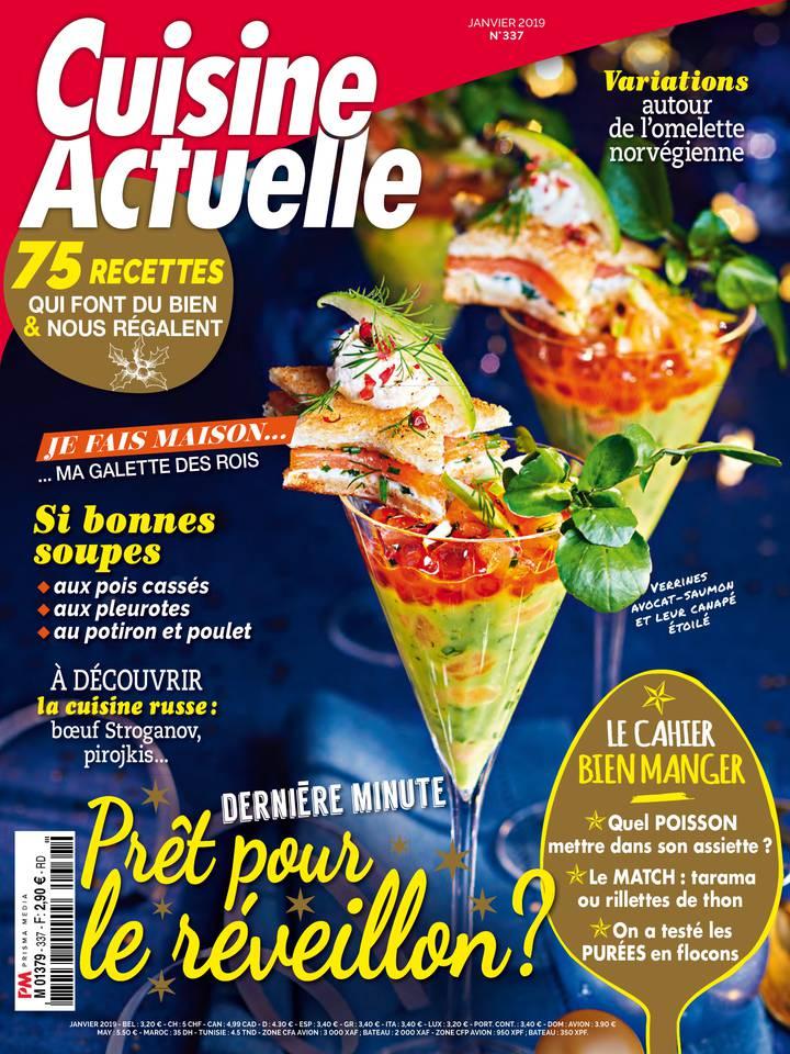 Abonnement à Cuisine Actuelle Pas Cher avec le BOUQUET ePresse.fr