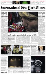 Une - International New York Times 23 avril 2014