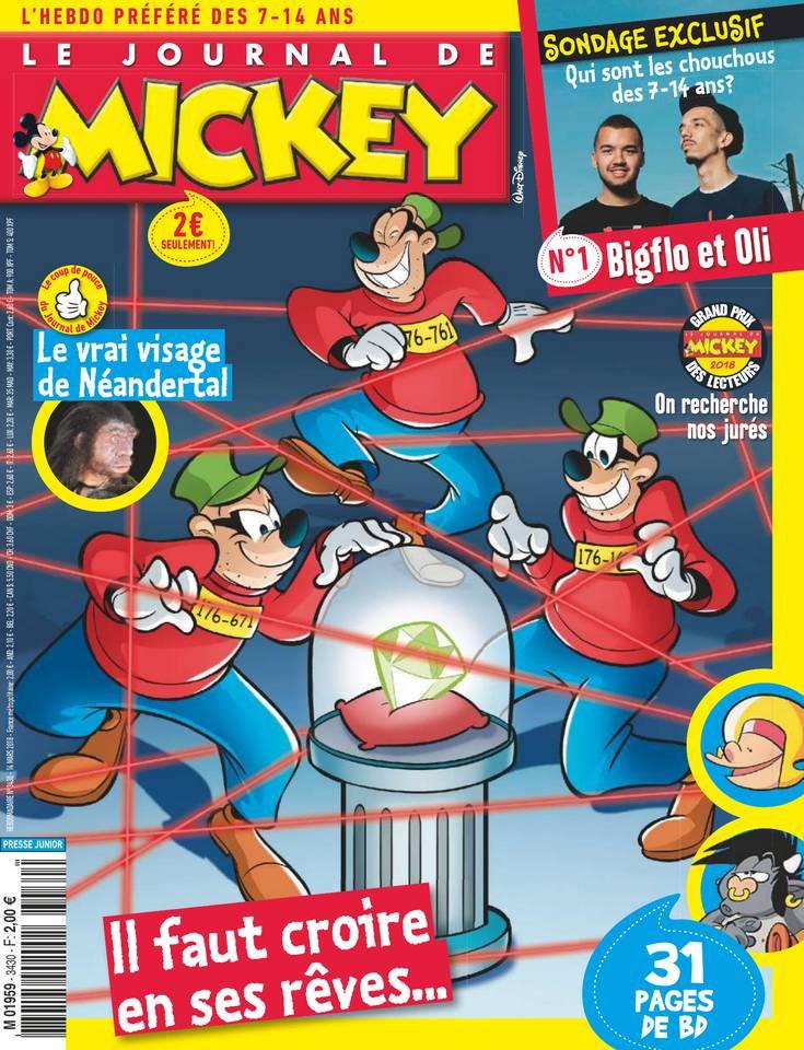 Le Journal de Mickey N°3430 du 14 mars 2018 à télécharger sur iPad