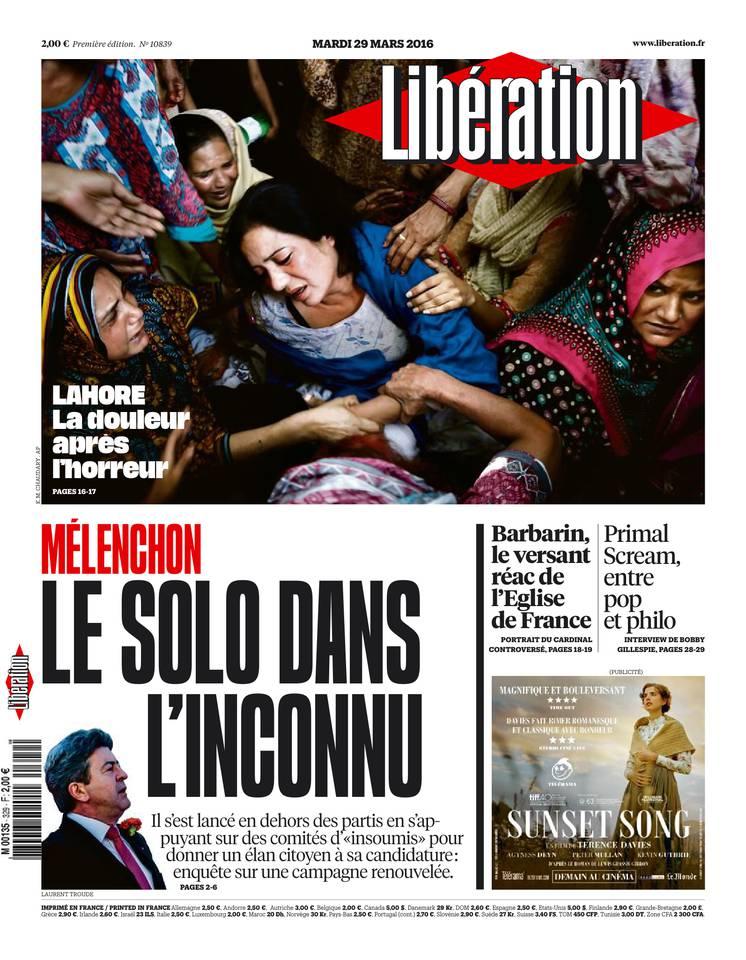Libération du mardi 29 mars 2016