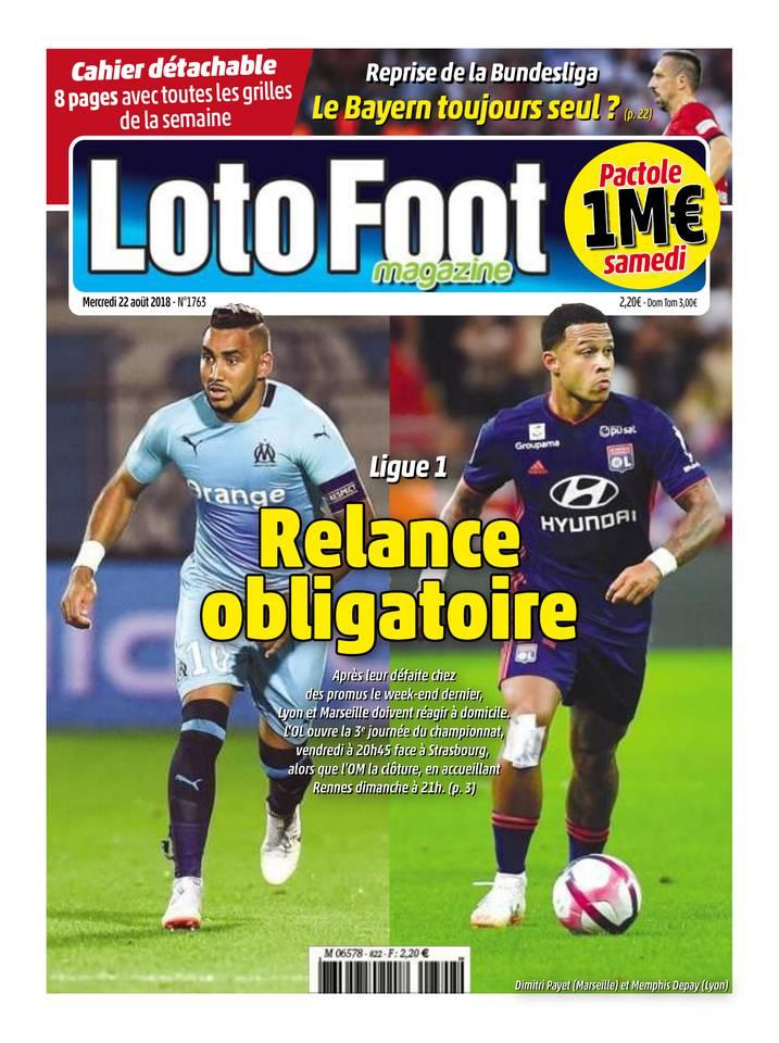 Loto Foot Magazine du 22 août 2018 à télécharger sur iPad