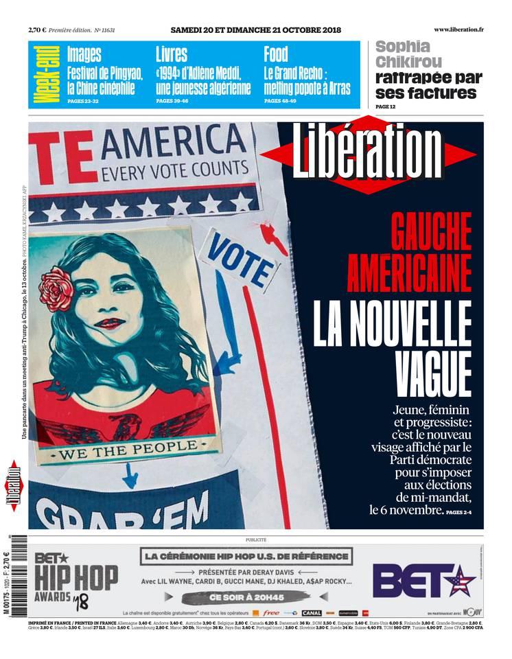 Libération du 20 octobre 2018 à télécharger sur iPad