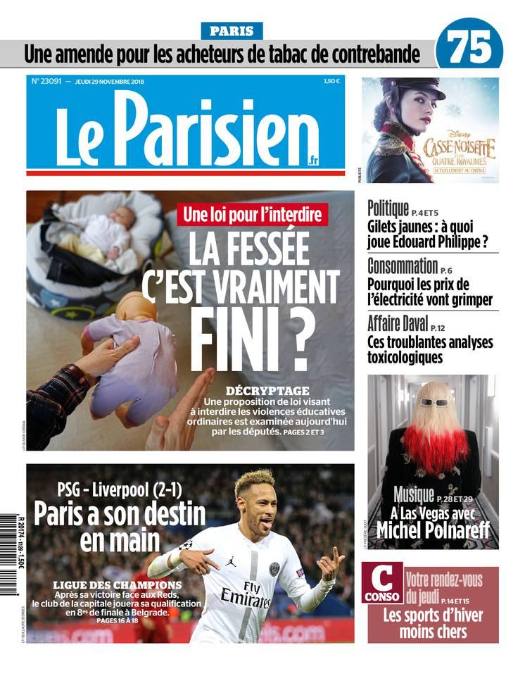 Le Parisien du 29 novembre 2018 à télécharger sur iPad