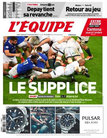 L'Équipe - 11/11/2018 |