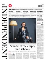 Une - The Independent 24 avril 2014
