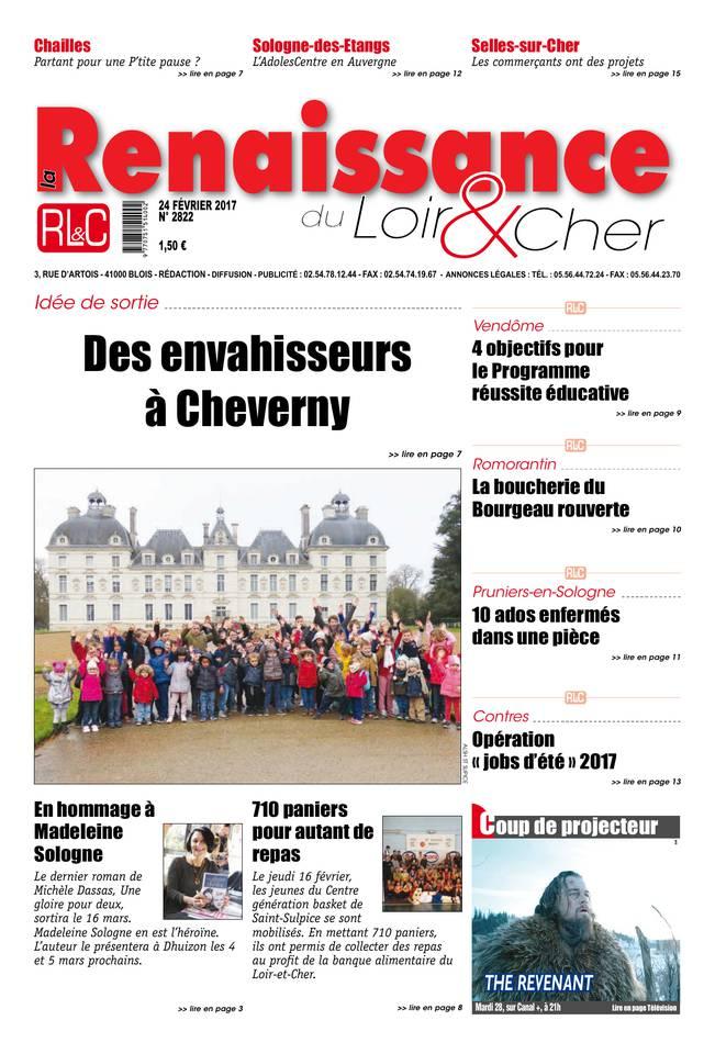 La Renaissance du Loir-et-Cher du 24 février 2017 à télécharger sur iPad