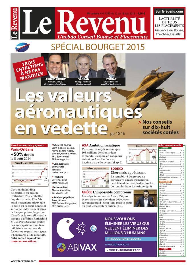Le Revenu Hebdo bourse N°1330 — 11 juin 2015