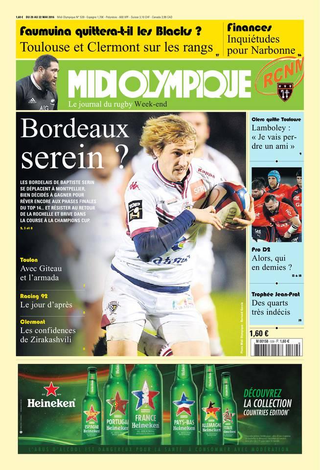 Midi Olympique Vert du 20 mai 2016 à télécharger sur iPad