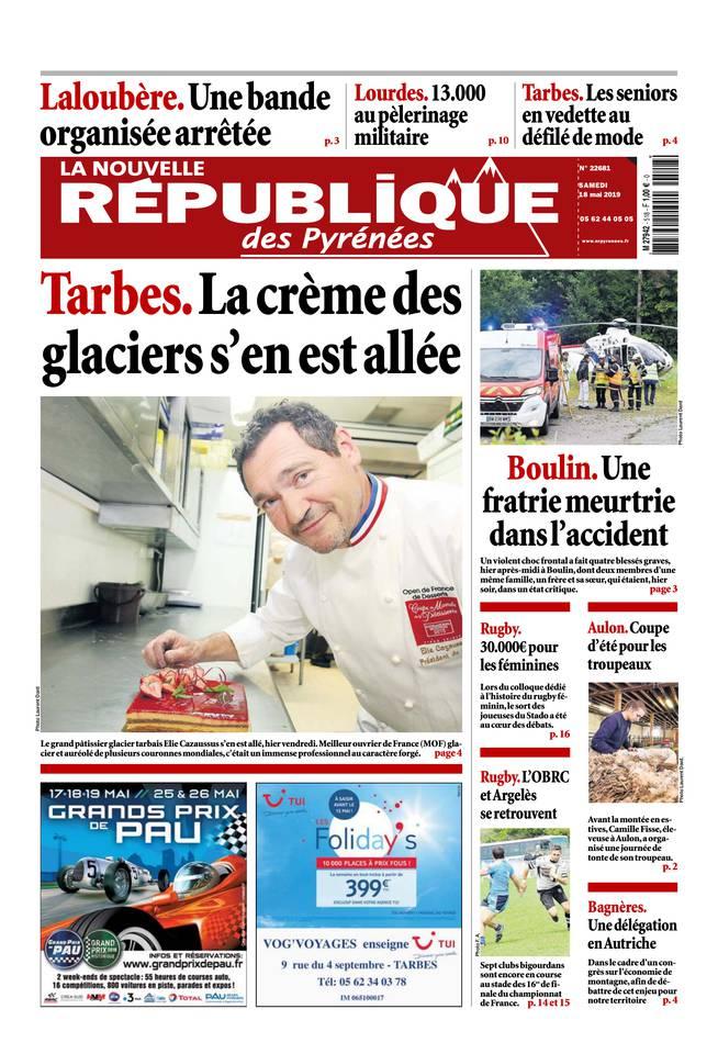 La Nouvelle République des Pyrénées du 18 mai 2019 à télécharger sur iPad