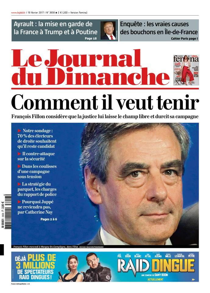 Le Journal du Dimanche N°3658 du 19 février 2017 à télécharger sur iPad