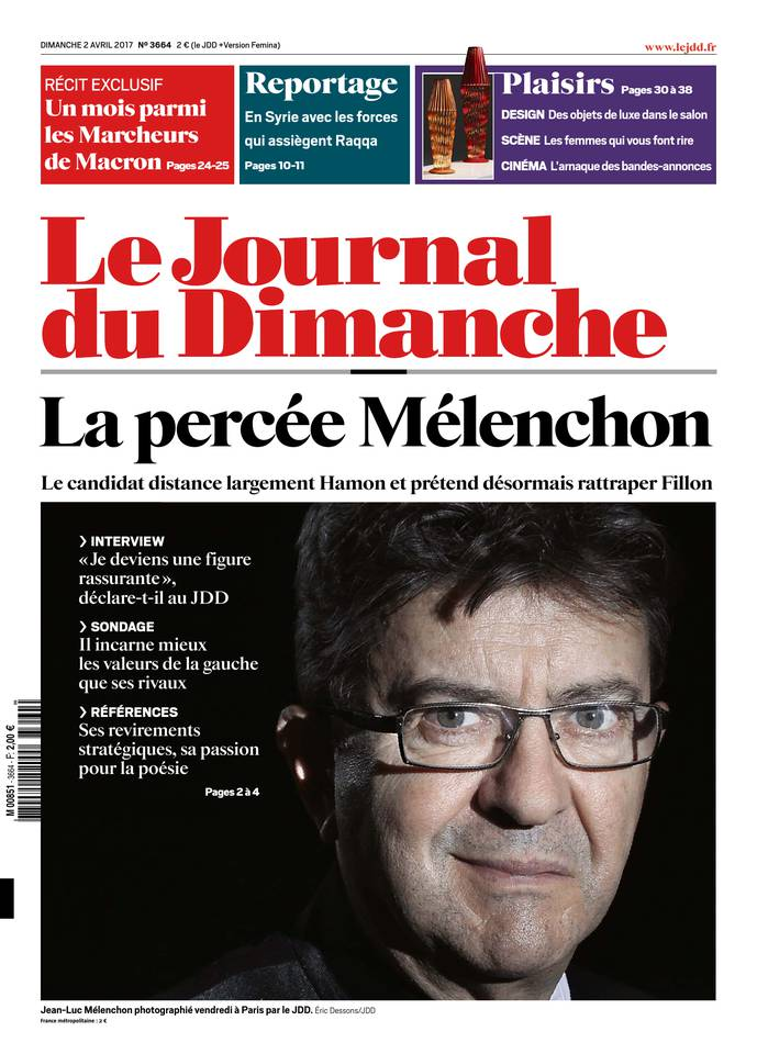 Le Journal du Dimanche N°3664 du 02 avril 2017 à télécharger sur iPad