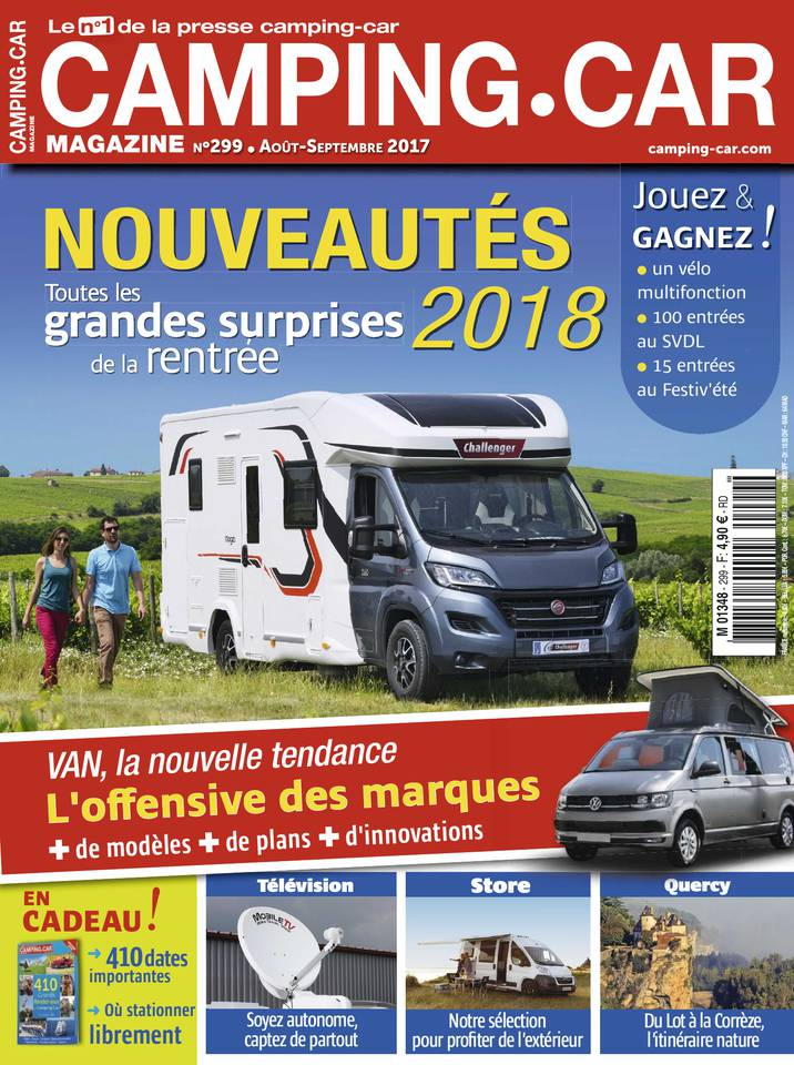 abonnement camping car magazine pas cher avec le bouquet. Black Bedroom Furniture Sets. Home Design Ideas