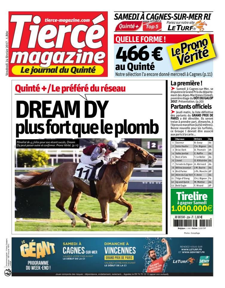 Abonnement Tiercé Mag Pas Cher avec le BOUQUET ePresse.fr