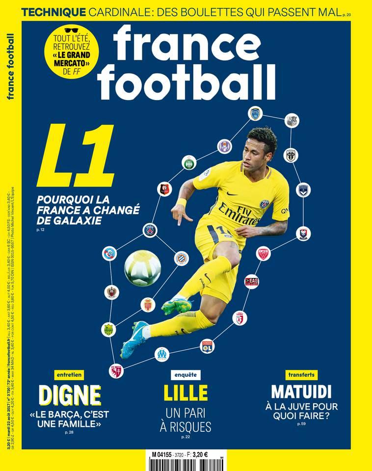 France Football du 22 août 2017 à télécharger sur iPad