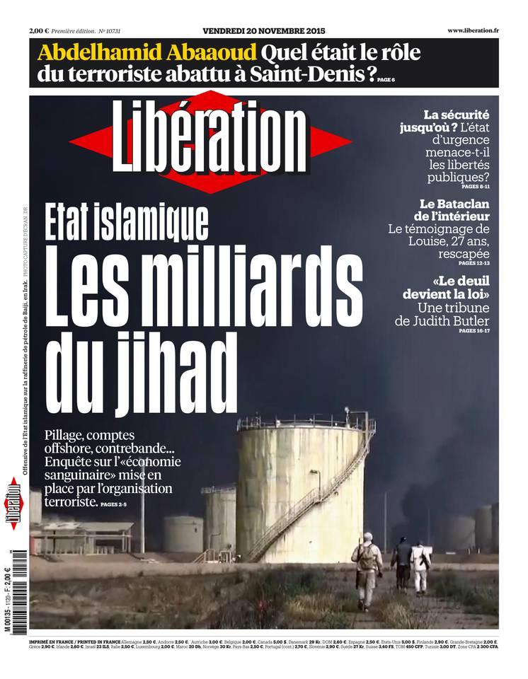 Libération du Vendredi 20 Novembre 2015