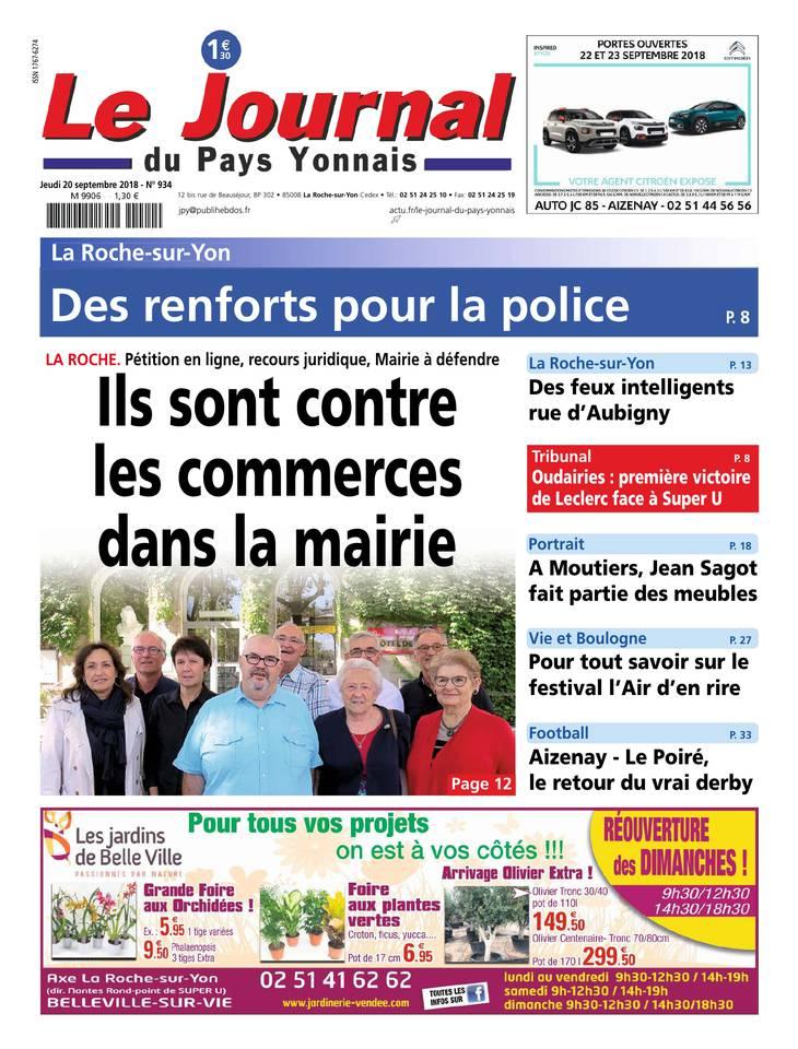 Le Journal du Pays Yonnais - Le Journal Pays Yonnais du 20 septembre 2018
