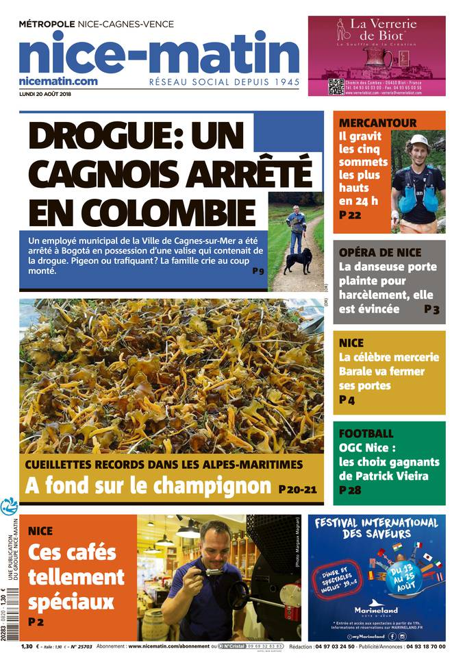 [Exclu Ultima Download] Nice Matin du 20 Août 2018