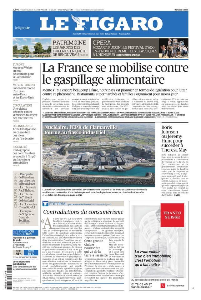 Le Figaro du 21 juin 2019 à télécharger sur iPad