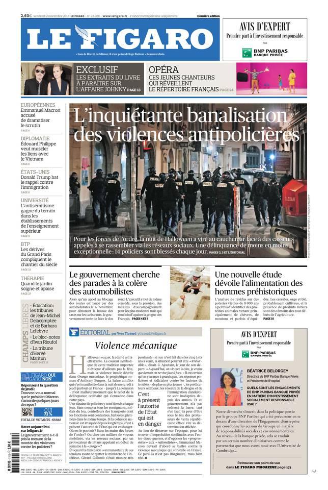 Le Figaro du 02 novembre 2018 à télécharger sur iPad
