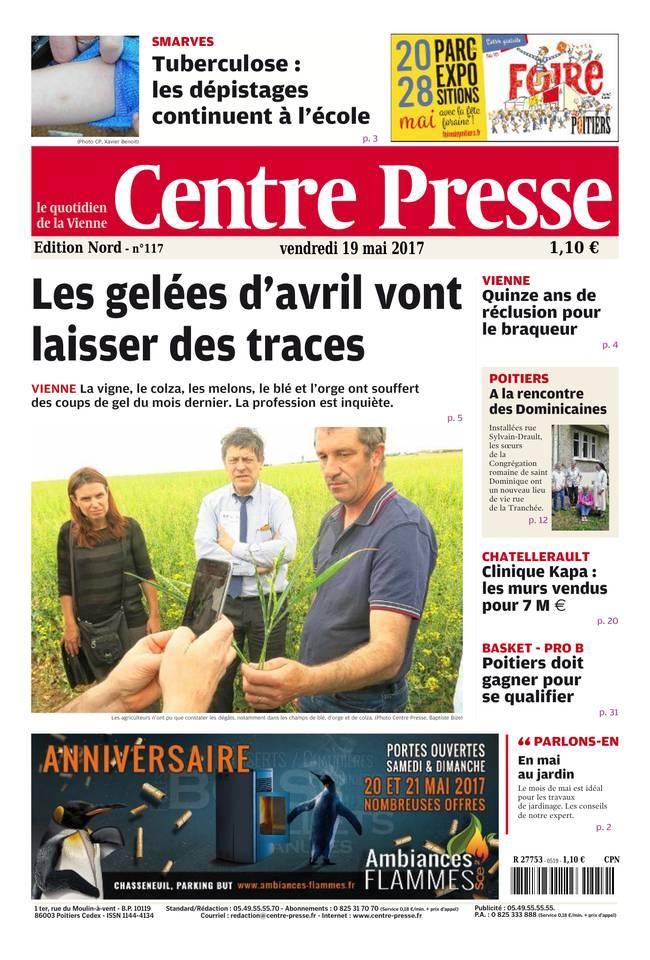 Centre Presse du 19 mai 2017 à télécharger sur iPad