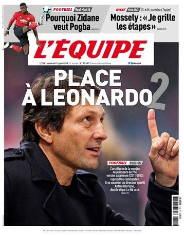 L'Équipe - 14/06/2019 |