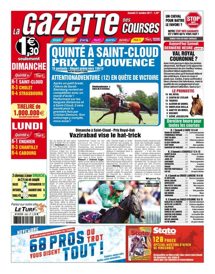 Abonnement La Gazette des Courses Pas Cher avec le BOUQUET ePresse.fr