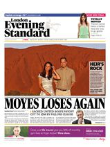 Une - Evening Standard 22 avril 2014
