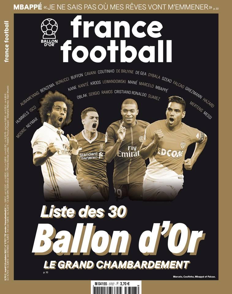 France Football du 10 octobre 2017 à télécharger sur iPad
