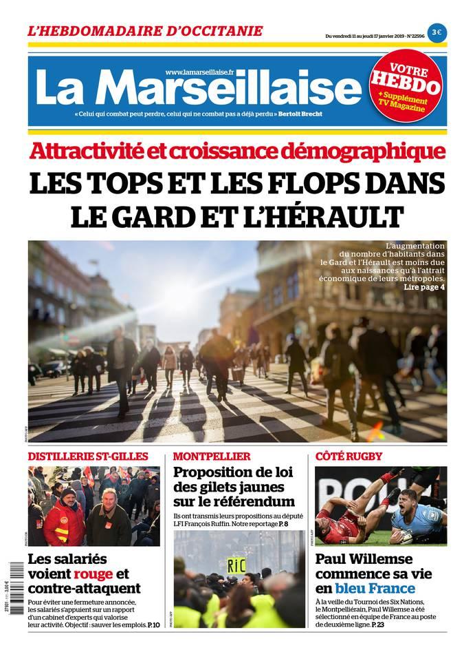 La Marseillaise Languedoc du 11 janvier 2019 à télécharger sur iPad