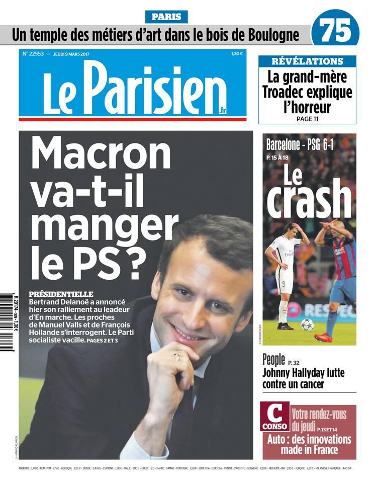 Le Parisien du 09 mars 2017 à télécharger sur iPad