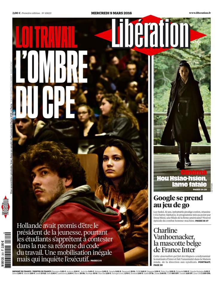 Libération du mercredi 09 mars 2016