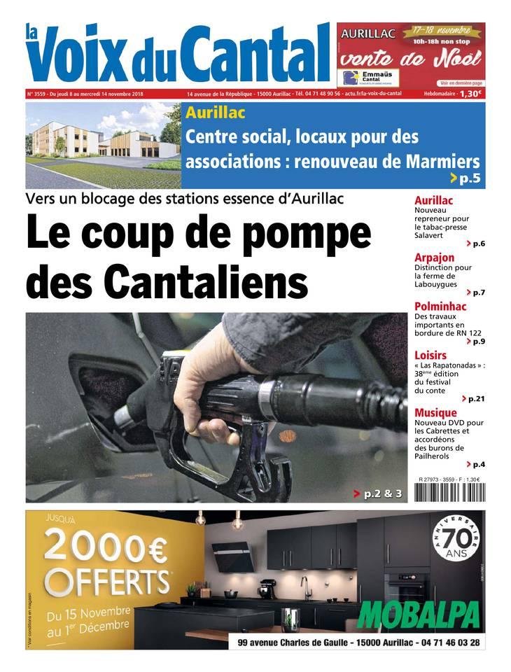 Voix du Cantal du 08 novembre 2018