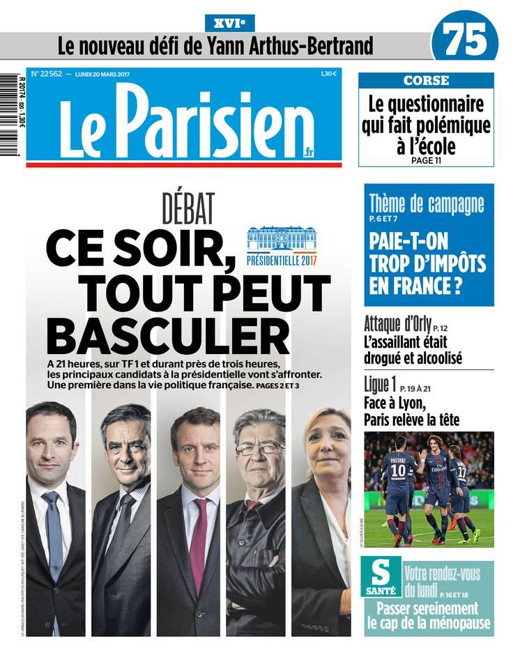 Le Parisien du 20 mars 2017 à télécharger sur iPad