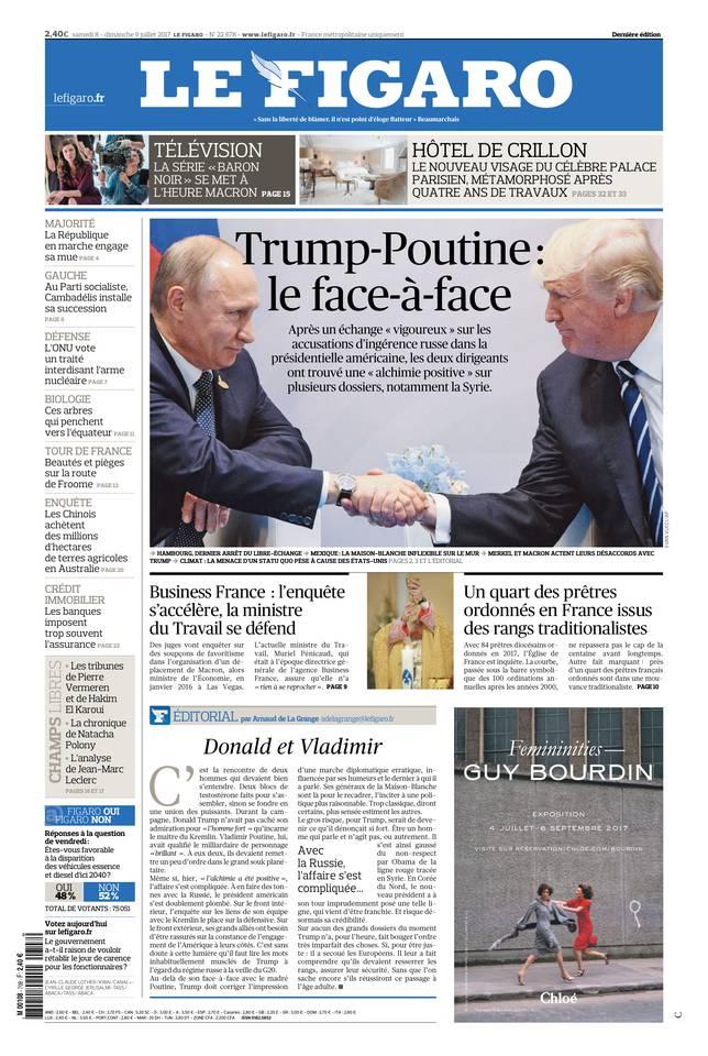 Le Figaro du 08 juillet 2017 à télécharger sur iPad