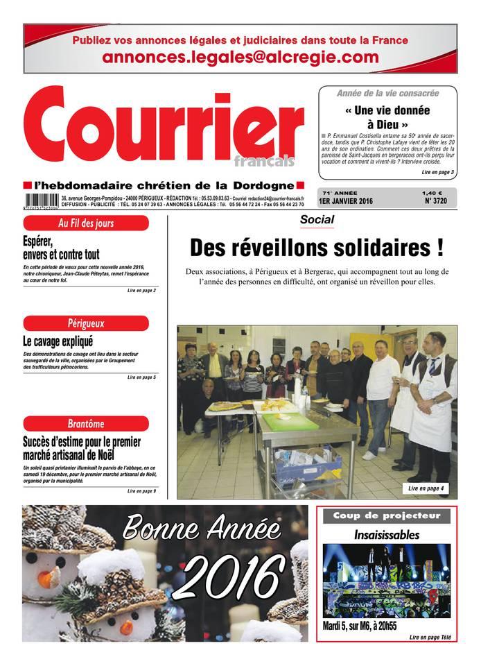 Courrier Français du 01 janvier 2016 à télécharger sur iPad
