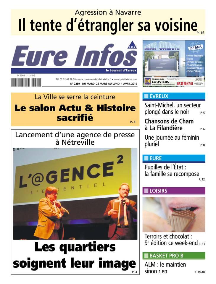 Eure Infos du 26 mars 2019 à télécharger sur iPad