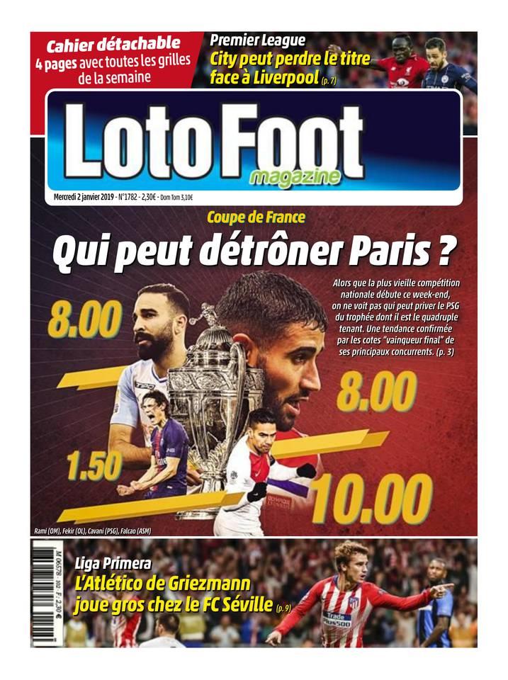 Loto Foot Magazine du 02 janvier 2019 à télécharger sur iPad