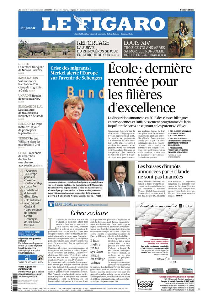 Le Figaro - 01/09/2015 |