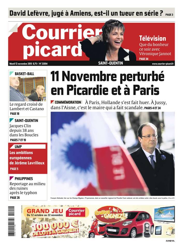 Courrier Picard du 12 novembre 2013 à télécharger sur iPad