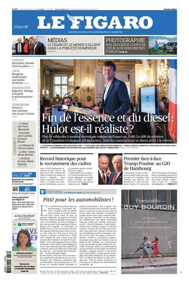 Le Figaro du 07 juillet 2017 à télécharger sur iPad