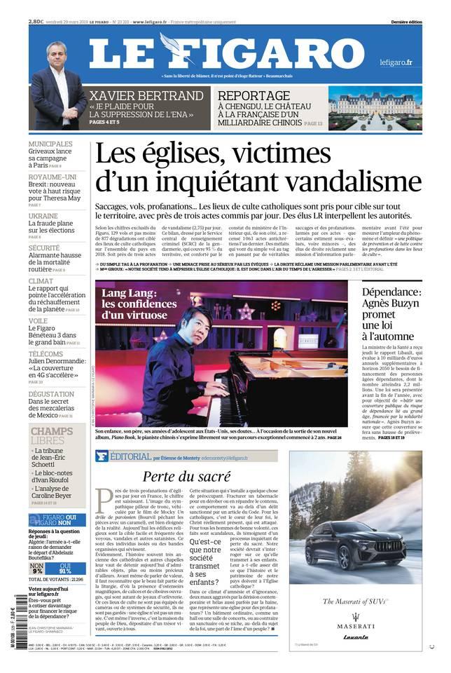 Le Figaro du 29 mars 2019 à télécharger sur iPad