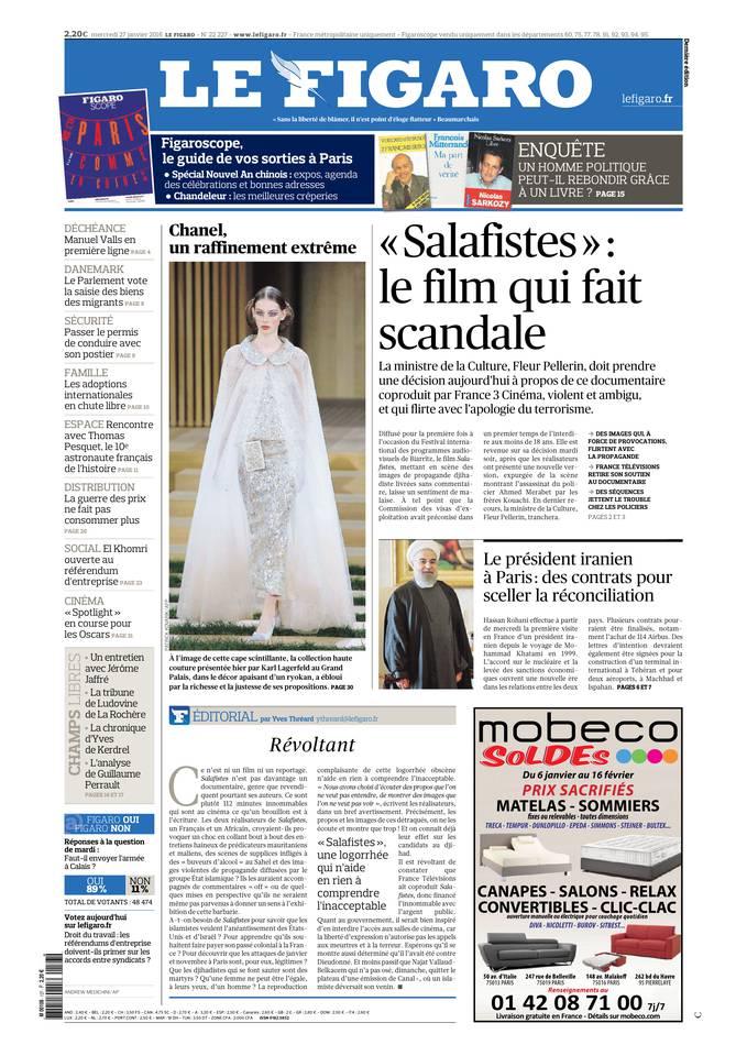 Le Figaro Du Mercredi 27 Janvier 2016
