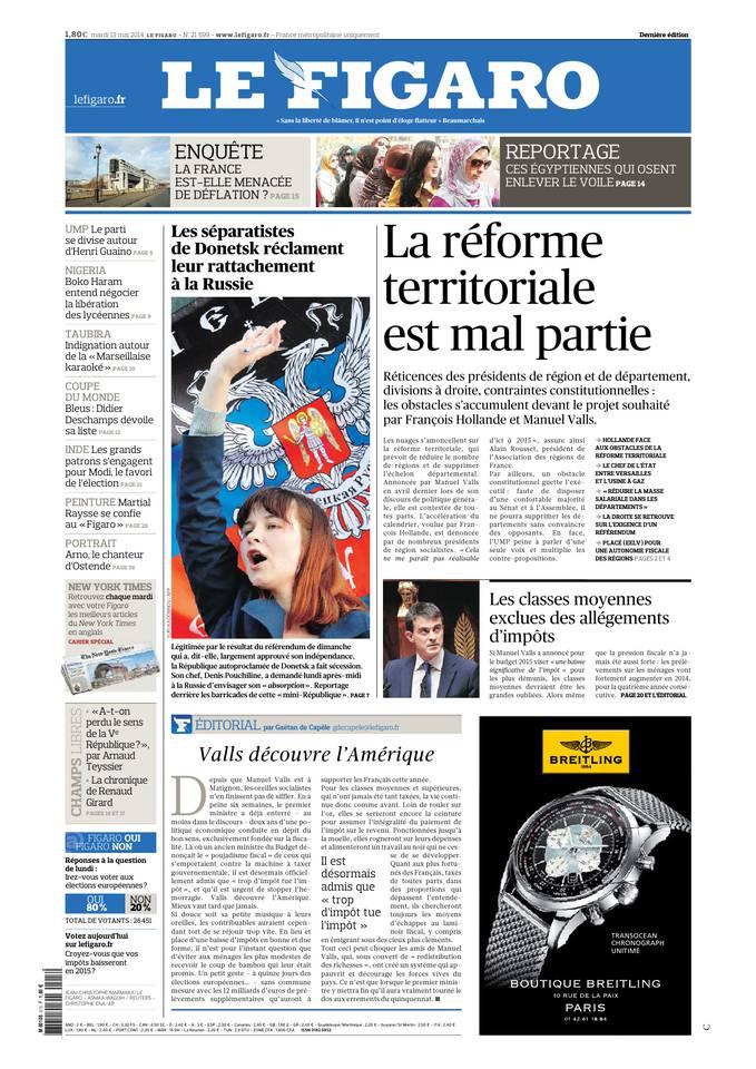 Le Figaro du 13 mai 2014 à télécharger sur iPad