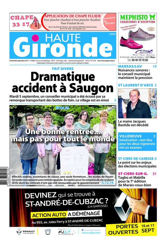 Haute Gironde du 08 septembre 2017 à télécharger sur iPad