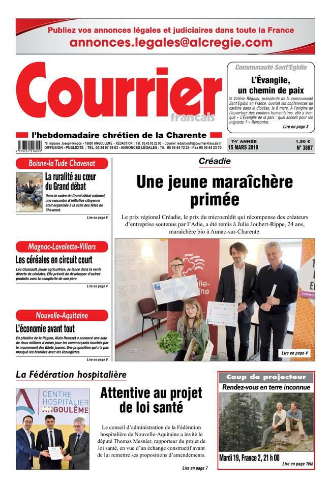 Courrier Français du 15 mars 2019 à télécharger sur iPad