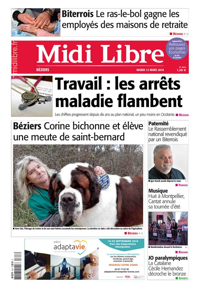 13 mars 2018 midi libre sfr presse. Black Bedroom Furniture Sets. Home Design Ideas