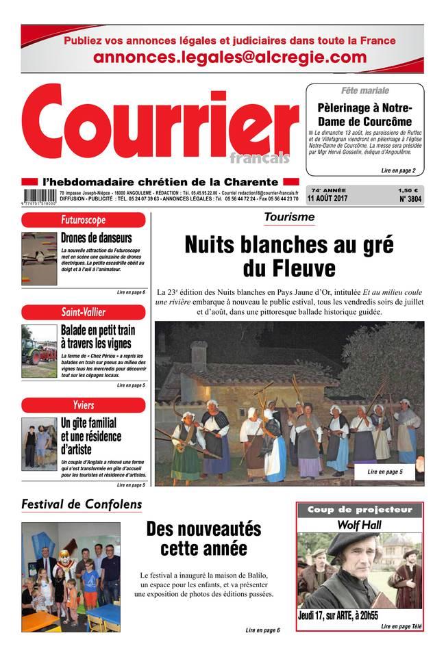 Courrier Français du 11 août 2017 à télécharger sur iPad