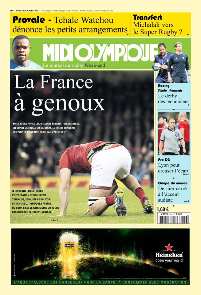 Midi Olympique Vert du vendredi 23 octobre 2015