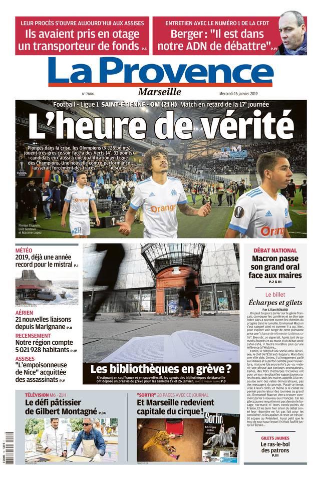 La Provence - La Provence édition Marseille du 16 janvier 2019